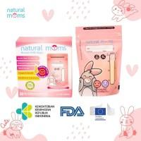 Kantong Asi 100ml Natural Moms - Thermal Sensor - Pink Rabbit