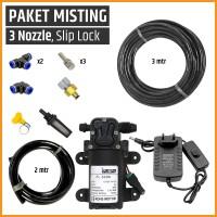 Paket Misting / Kabut / Embun, 3 Mist Nozzle, Paludarium / Terrarium