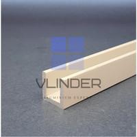U Channel Aluminium 19 mm x 19 mm, t. 3 mm