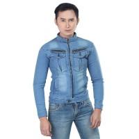 INFDCF Jaket Jeans Pria Jaket Trucker Denim Jacket Levis Cowo Premium
