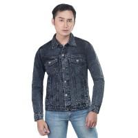 INFGED Jaket Jeans Pria Jaket Trucker Denim Jacket Levis Cowo Premium