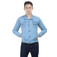 INFICG Jaket Jeans Pria Jaket Trucker Denim Jacket Levis Cowo Premium