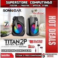 Sonicgear Titan 2. Speaker System With Xtra Bass and 7 Color Lighting
