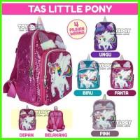 Tas Ransel Sekolah Anak Manik Little Sequin School Pony Unicorn