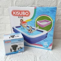 Poin AMO Kolam Renang Anak Besar KISUBO Kotak 2 Meter + Pompa Listrik