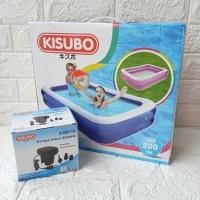 Yuya AMO Kolam Renang Anak Besar KISUBO Kotak 2 Meter + Pompa Listrik