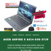 LAPTOP ACER A514-52-393D CORE I3-10110U GEN KE-10 RAM 4GB HDD 1TB 14
