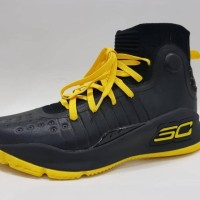 PROMO SEPATU BASKET UNDER ARMOUR CURRY 4 YELLOW BLACK IMPOR VIETNAM -