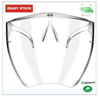 FACE SHIELD ACRYLIC CLEAR GLASS FULL FACE NEW MODEL GU AP095