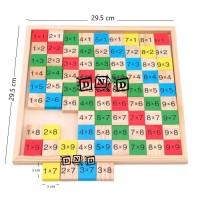 Mainan Edukasi Anak Multiplication Board Table Perkalian Matematika