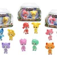Mainan Anak Mini Figure Boneka Glimmies Glow In Dark Set Isi 2 Pcs