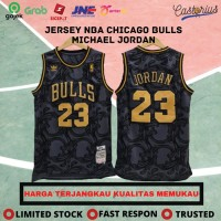 JERSEY BASKET NBA MICHAEL JORDAN BAJU BASKET CHICAGO BULLS BLACKGOLD - S
