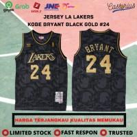 JERSEY BASKET NBA BAJU KOBE BRYANT BLACK GOLD EDITION LA LAKERS #24 - L