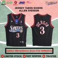 JERSEY BASKET NBA BAJU BASKET NBA SWINGMAN REVO30 SIXERS ALLEN IVERSON - S