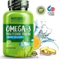 Hot Produk Naturelo - Premium Omega-3 Fish Oil - 1100 Mg Triglyceride