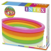 Kolam Renang Anak 4 Ring Rainbow intex 56441