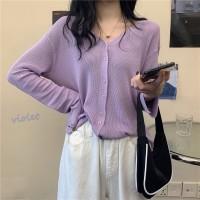 Cardigan Outer Pakaian Wanita Rajut Sweater Korea Lengan Panjang