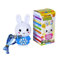 Mainan Anak Bayi Boneka Rabbit Kelinci Bunny Imut Lampu Suara Musik