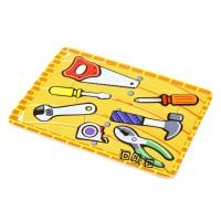 Mainan Edukasi Anak Wooden Puzzle Kayu Stiker Tools Alat Pertukangan