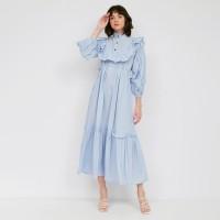 NONA Autumn Dress Maxi Soft Blue
