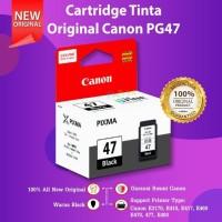 Cartridge Original Canon PG47 PG 47 Refill Printer E400 E410 E460 E480 - Hitam