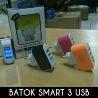 Batok Charger 3Port USB / 3A Smart Charger
