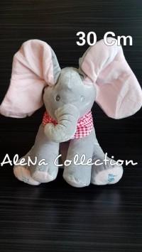 Boneka Import Peek a Boo Elephant Singing Boneka Gajah Bernyanyi Kado