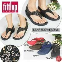 Sandal Jepit Wanita Fitflop Leaf Flower Tali (HARGA PROMO)