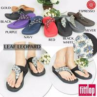 Sandal Jepit Wanita Fitflop Leaf Leopard (HARGA PROMO)