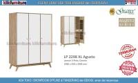 LP 2298 XL Graver Lemari 3 Pintu Cermin Agusto