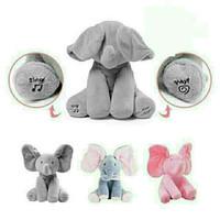boneka gajah peek a boo, bisa menari & bernyanyi