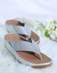 Fitflop Crystal Flip Sandal Jepit Casual Wanita Original