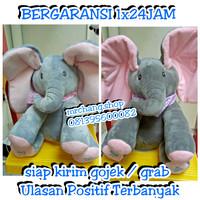 boneka gajah musik peek a boo elephant cocok untuk anak anda