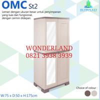 lemari plastik 2 pintu cermin olymplast omc