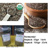 Kemasan 100gr Organik Black Chia Seed / biji chia hitam organik