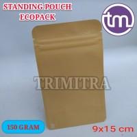 Standing Pouch Standing-Pouch Kertas Paperkraft Klip Zipper 150 gram