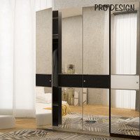 Pro Design Inbiz Lemari Pakaian 3 Pintu Full Cermin
