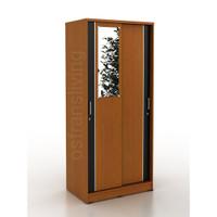 Termurah Lemari Pakaian 2 Pintu Sliding + Cermin SABLE 80SL