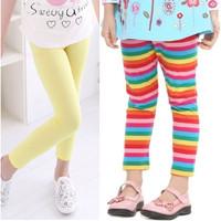 Legging Anak Perempuan 1 - 7 Thn Polos dan Motif Katun Premium