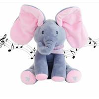 Sing & Peek a Boo Elephant Doll Boneka Gajah Cilukba & Nyanyi
