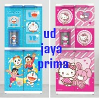 lemari plastik hello kitty & doraemon