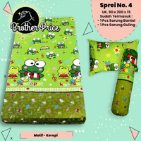 Sprei Set | Single (90×200)No 4 |Sudut Karet