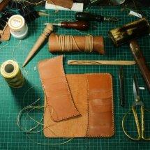 1991 Essentials Leather Logo