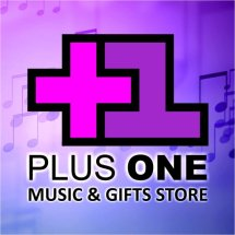Logo Plus One Music Shop