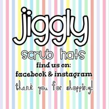 jiggly scrub hats Logo