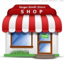 Mega book store Logo