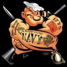 Popeye NAVY Logo