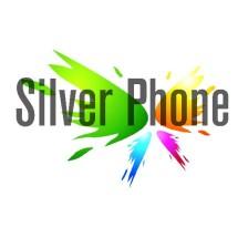 silver phone Logo