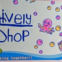 Logo lively baby shop