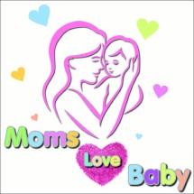 MOMS LOVE BABY Logo